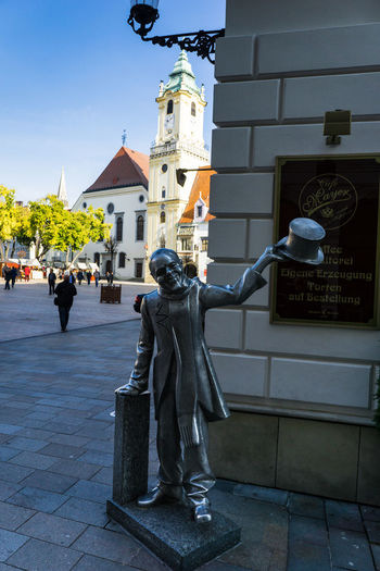 Bratislava, Slovakia old town nooks and grannies. Art Bratislava, Slovakia City Creativity Day Memories No People Outdoors Sculpture Sky Statue Sunlight Sunny Travel Destinations