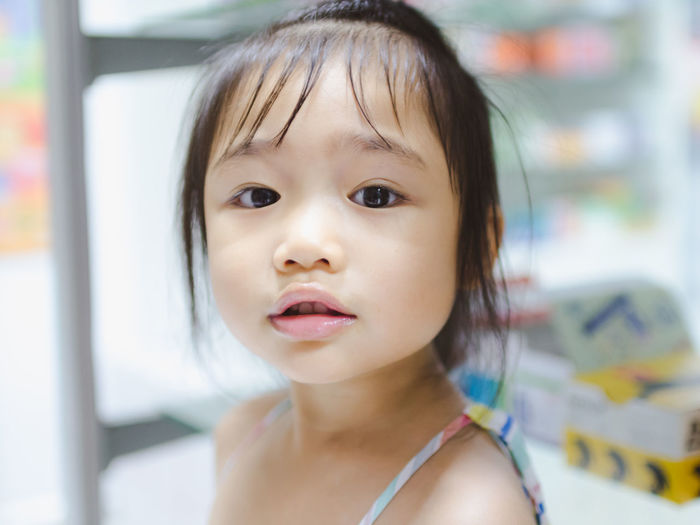 Bangs Child Childhood Close-up Cute Emotion Females Focus On Foreground Front View Girls Hairstyle Happiness Headshot Indoors  Innocence Looking At Camera One Person Portrait Smiling Women