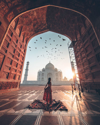 My Taj Mahal Hawamahaljaipur India Sale Culture Birds Silhouette History Travel Destinations Monument Adult Architecture People Politics And Government One Person Beauty Full Length Sunset Sky Indoors  Ancient Civilization City Day