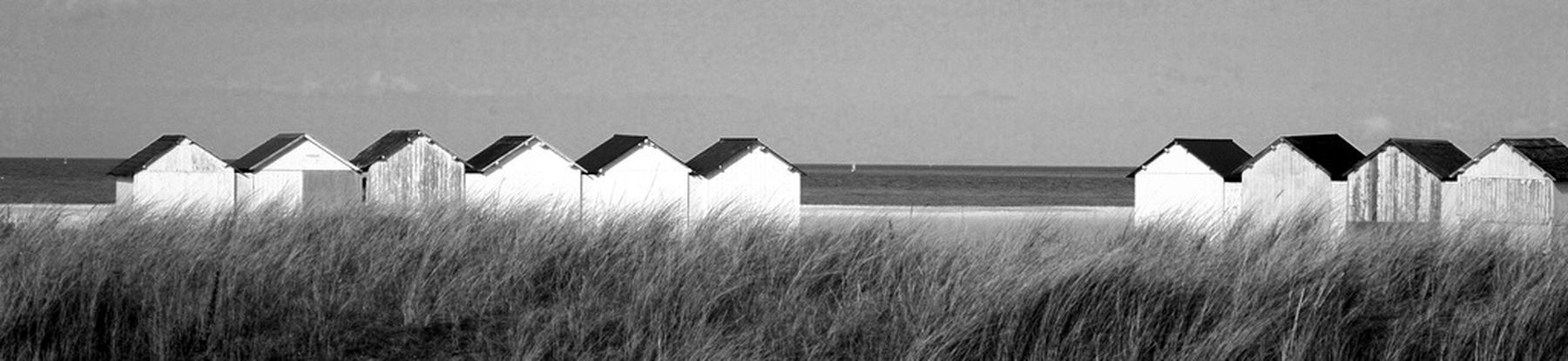 Bw_collection Beach Huts Blackandwhite Monochrome