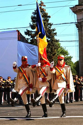 Celebration Parade Parade Time Independence Day Republic Of Moldova