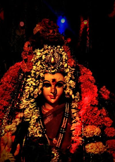 navraatri Navratri Devi Sharda Halloween Clown Mime Witch Stage Costume Performance Performing Arts Event Spooky Evil Portrait