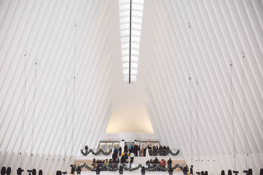 Adult Architecture Architecture Building City Crowd Day Group Of People Indoors  Large Group Of People Manhattan Men Modern New York New York City Occupation People Real People Winter Women World Trade Center