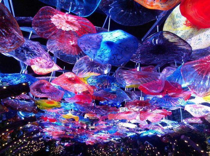 Hello World glass art