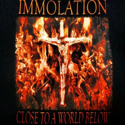 Immolation Immolationdeathmetal Immolationband Immolationart hell crucifiction crucifictions fireycrucifiction jesus jesussaves depictionofhell