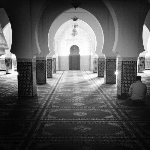 The Lonely Prayer in a Moroccan Mosque