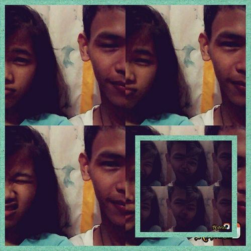 half face :) with my kapatirr @angge.ge.ge.ghe_ SembreakTrip Photogrid