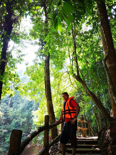 Kenyir Lake Kenyir Lake Resort Malaysia Truly Asia Malaysia Lake View Lake Lakeside Water Waterfall Water_collection Outdoors Outdoor Photography Forest Forest Photography Forestwalk Tree Plant Real People One Person Casual Clothing Growth Leisure Activity Three Quarter Length Land Standing Lifestyles Day Nature Green Color Tree Trunk Trunk Beauty In Nature Men WoodLand Teenager