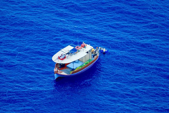 Cobalt Blue By Motorola Blue Sea Boat Afloat Santorini Living Bold The Traveler - 2015 EyeEm Awards Capturing Freedom Blue Wave Telling Stories Differently The Great Outdoors With Adobe The Great Outdoors - 2016 EyeEm Awards People Of The Oceans