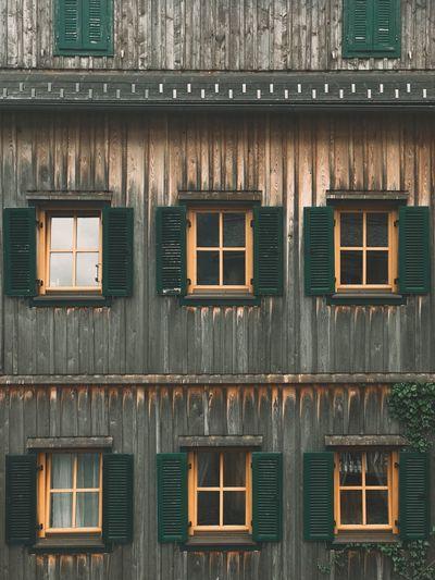Exterior of residential building in hallstat