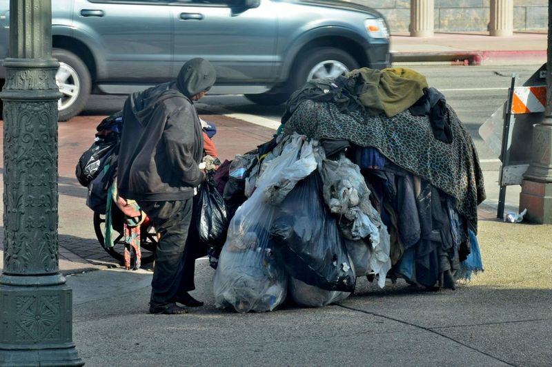 The sad but real side of our affluent society City Homeless Human Representation Men Outdoors Poor  Poor People  Street Street Life California Dreamin