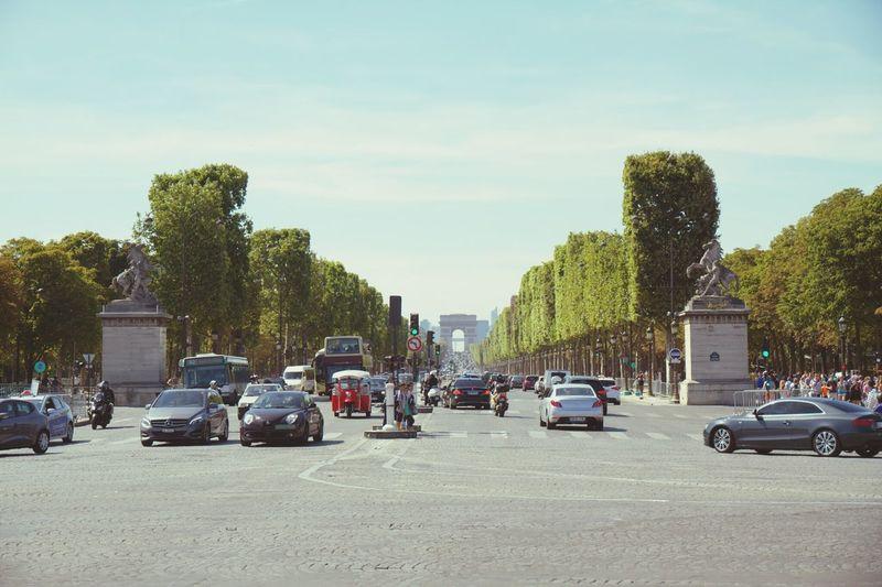 Feel The Journey Paris Paris, France  Summer Traffic Street Photography Champs-Élysées  Cars