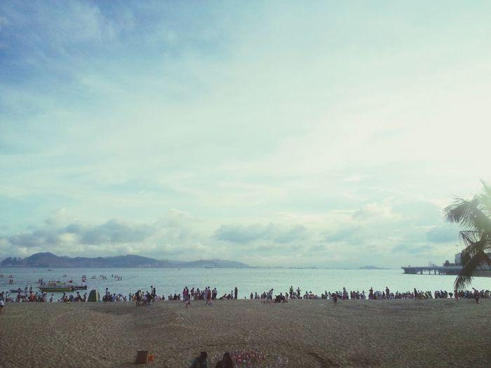 Beach Sea The People Blue Sky