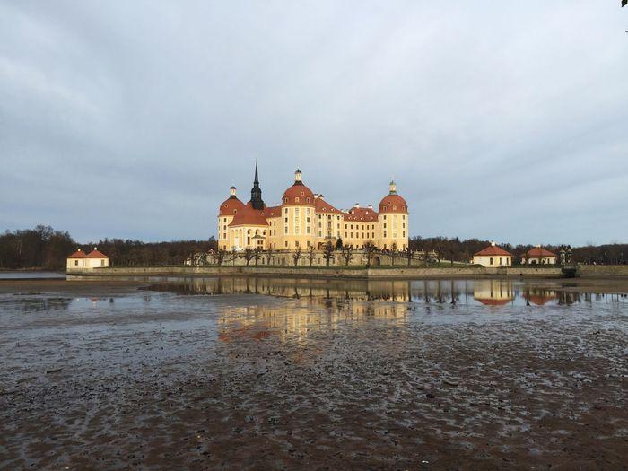 Taking Photos Enjoying Life Water Reflections Castle Lake Schloss Moritzburg  Old Buildings