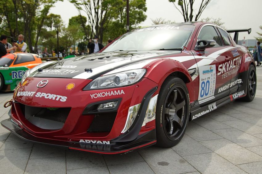 Motor Sport Japan 2016 Legend Of The Mazda Mazda Night Sports RX-8 Racing Car Motor Sport Car Cars EyeEm Best Shots Enjoying Life Snapshot Taking Photos Walking Around お写ん歩