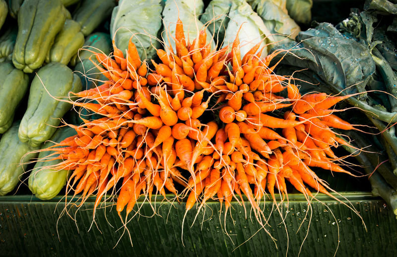 small carrot selling in the market Baby Carrots Beauty In Nature Carrot Close-up Focus On Foreground Freshness Nature No People Orange Color Plant Season  Small Carrot