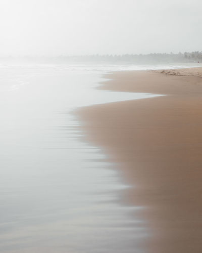 Water Tranquility No People Nature Fog Scenics - Nature Tranquil Scene Land Reflection Beauty In Nature Day Non-urban Scene Sky Idyllic Outdoors Sea Sand Beach Contemplation Beauty In Nature Calm Nature