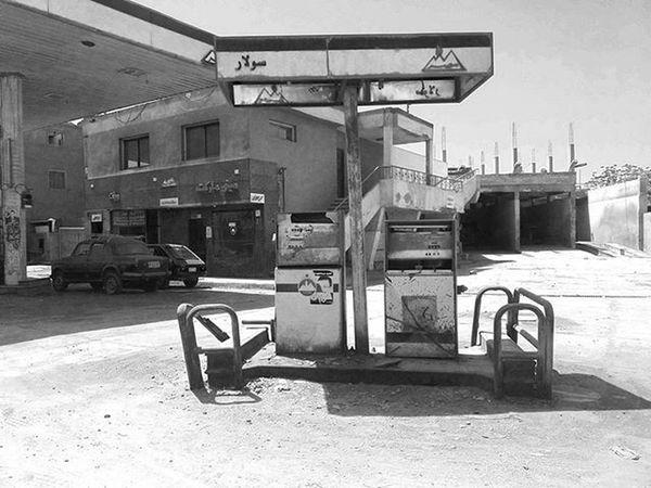 Out of service! Everydayegypt Vscoegypt VSCO Blackandwhite Gasstation Oldplace Mobilephotography