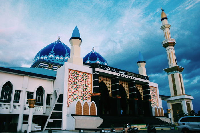 Amazing mosquo Amazing Architecture Amazing Mosque Sky Sky And Clouds Pray Religion Religious  Outside Norasism Together Muslim Lovely Building SHOLAT MUSLIM Outdoors Blue Tower Islamic Architecture Islamiccenter Photography Photographer Landscape Landscape_photography