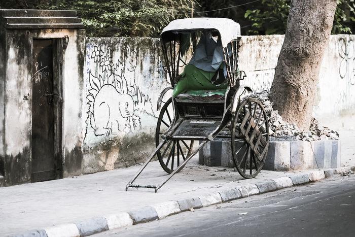retirement phase Day Fahrzeuge India No Customers Outdoors Pause Rickshaw Traffic