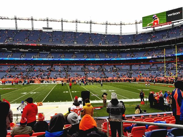 Denver Broncos vs. Kansas City Chiefs New Year's Eve! NFL Football Broncos  Cheifs Freezing Cold Center Field Amazing Seats  Sport Spectator Fan - Enthusiast Competition Crowd