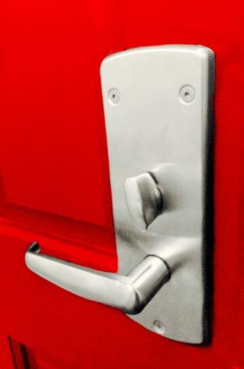 Hello Mr Handle! Pareidolia Faces In Objects Red Door Door Handle