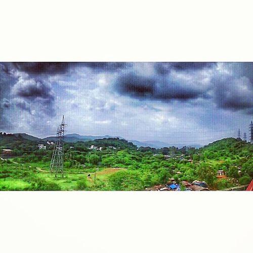 Hills Clouds Green MotoE