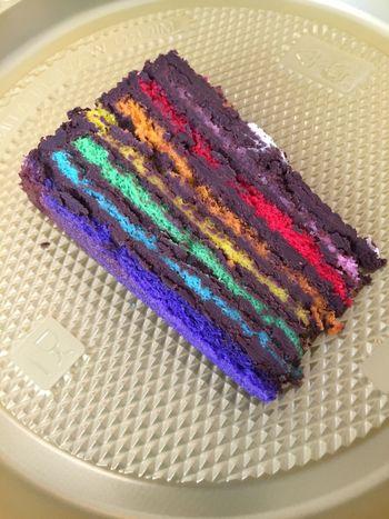 Chocolate rainbow cake Cakes Tea Time Cafe Chocolate Rainbow Colors Teabreak Afternoon