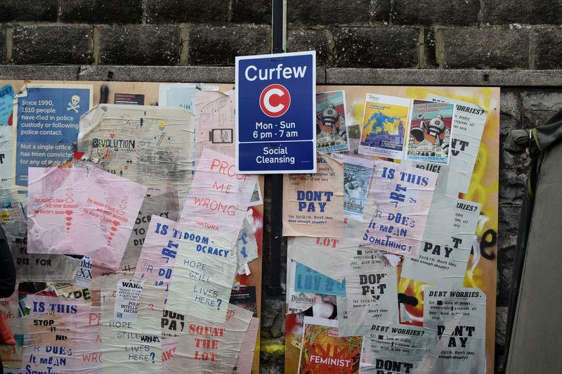 Curfew Art Banksy Social Cleansing Dismaland Lamppost Lamp Post Lamp Post Monday Dismaland®
