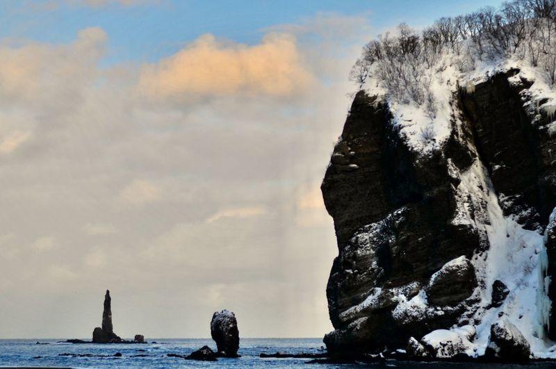 Candlestick Rock Beauty In Nature Sky Rock - Object Nature Sea Cloud - Sky Winter