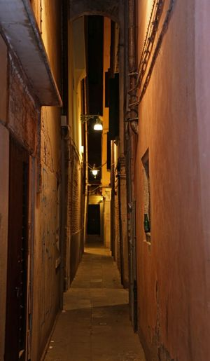 Narrow street called CALLEin Italian language in Venice Island #VENEZIA #Venice #venezia #venice Calle Narrow Venetian Venezia Venice, Italy Architecture Built Structure Corridor Illuminated Narrow Street Narrow Streets Night Street Venetian Street Veneto Venezia Italia Venice