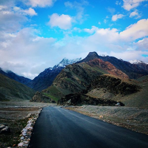 Ladakh Jammu And Kashmir India Travel Photography IPhoneography IPhone Mountains Road Snow Clouds And Sky Showcase March Landscapes With WhiteWall