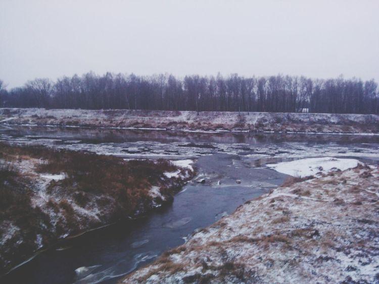 Taking Photos Cold Snow River