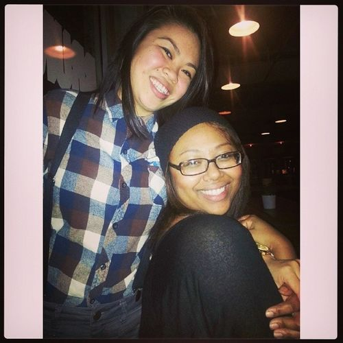 She finally got me out last night, look at her cute asian glow (-)_(-) Mykatherine Welcomebackdt @kkvokkvo