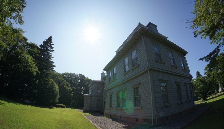 天鏡閣 洋館 明治建築 Western Style House 今日は健康診断 バリウムは苦手 Sun Sky