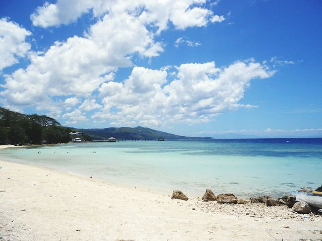 Staying close to nature. Taking Photos Nature Blue Sky Blue Water Blue Sea White Sands Cloudscape Perfect View for Relaxing