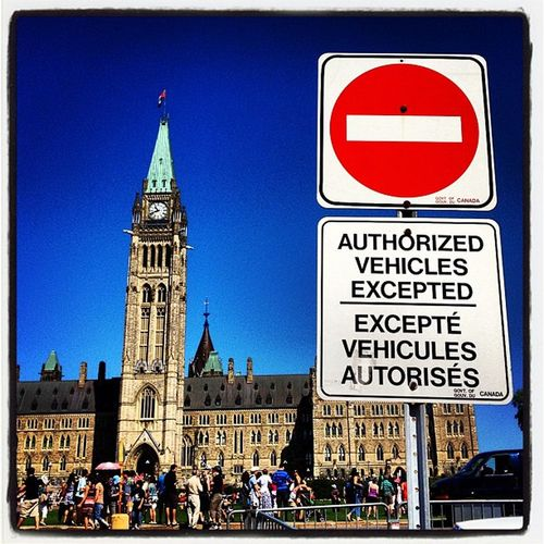 Authorized Vehicles Only. #parliament #canada Gmy Peacetower Architecture Parliament IPhoneography Noentry Canada Igcanada Sign Canadian_landmark Fabulous Canadian_icon Ottawa Authorized Iphoneonly Stunning Instamood Government Ontario Instagood Instagramhub Webstagram