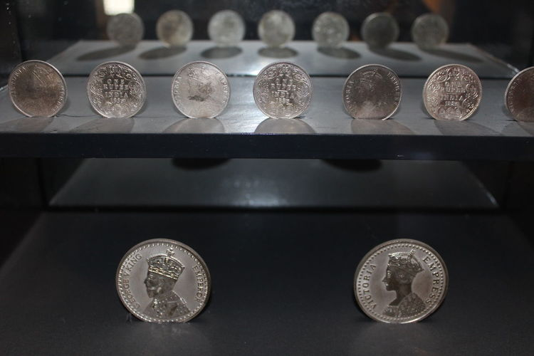 City Palace Museum Close-up Coin Day Indoors  Metal No People Table