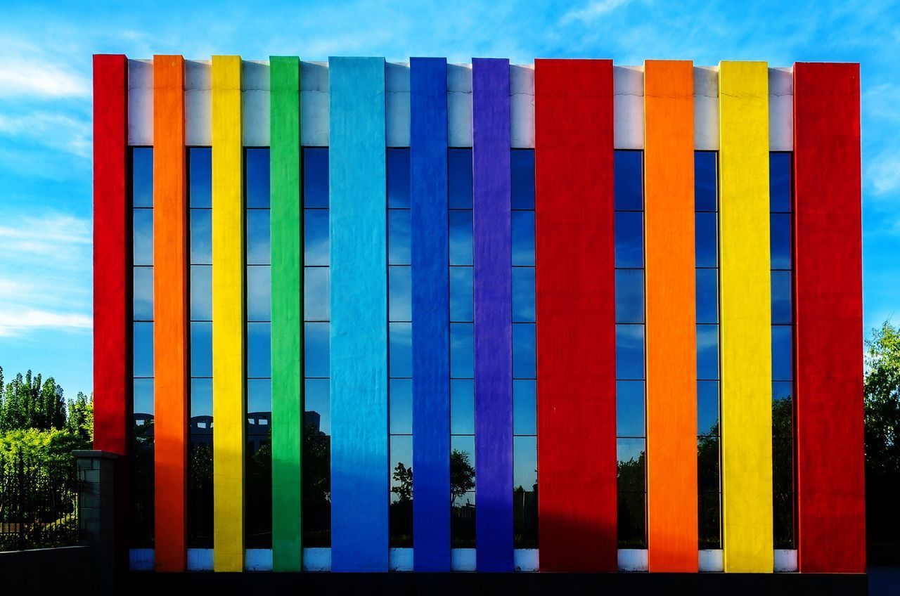 multi colored, colorful, outdoors, day, no people, architecture, sky, nature