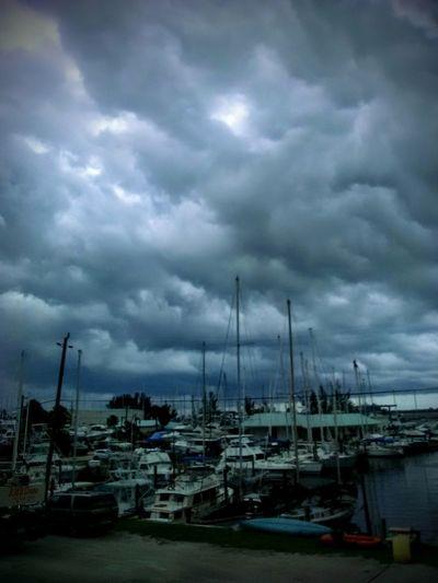 dark days of the summer Marina Dark Fays If The Summer Boat Yard Voats Boat Dock Sailing Ship Tall Ship Nautical Vessel Water Mast Harbor Sea Storm Cloud Sailboat Moored