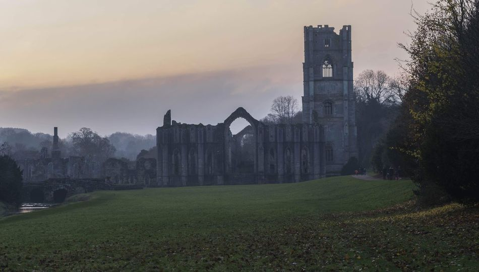 sunset over fountains abbey EyeEm Best Shots Eye4photography  EyeEm Gallery Eyeemphotography Sunset_collection Sunset Silhouettes Sunsetporn Autumn Collection Landscape_Collection Landscape City Cityscape Urban Skyline Politics And Government Business Finance And Industry Tree Building Exterior