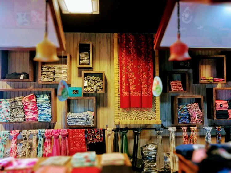 Market For Sale Choice Variation Multi Colored Hanging Store No People Retail  Pashmina Shawls Stole  Kathmandu Nepal