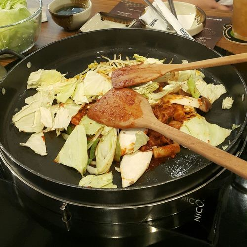 Food And Drink Food Indoors  Freshness Day No People Dak Galbi Korean Food