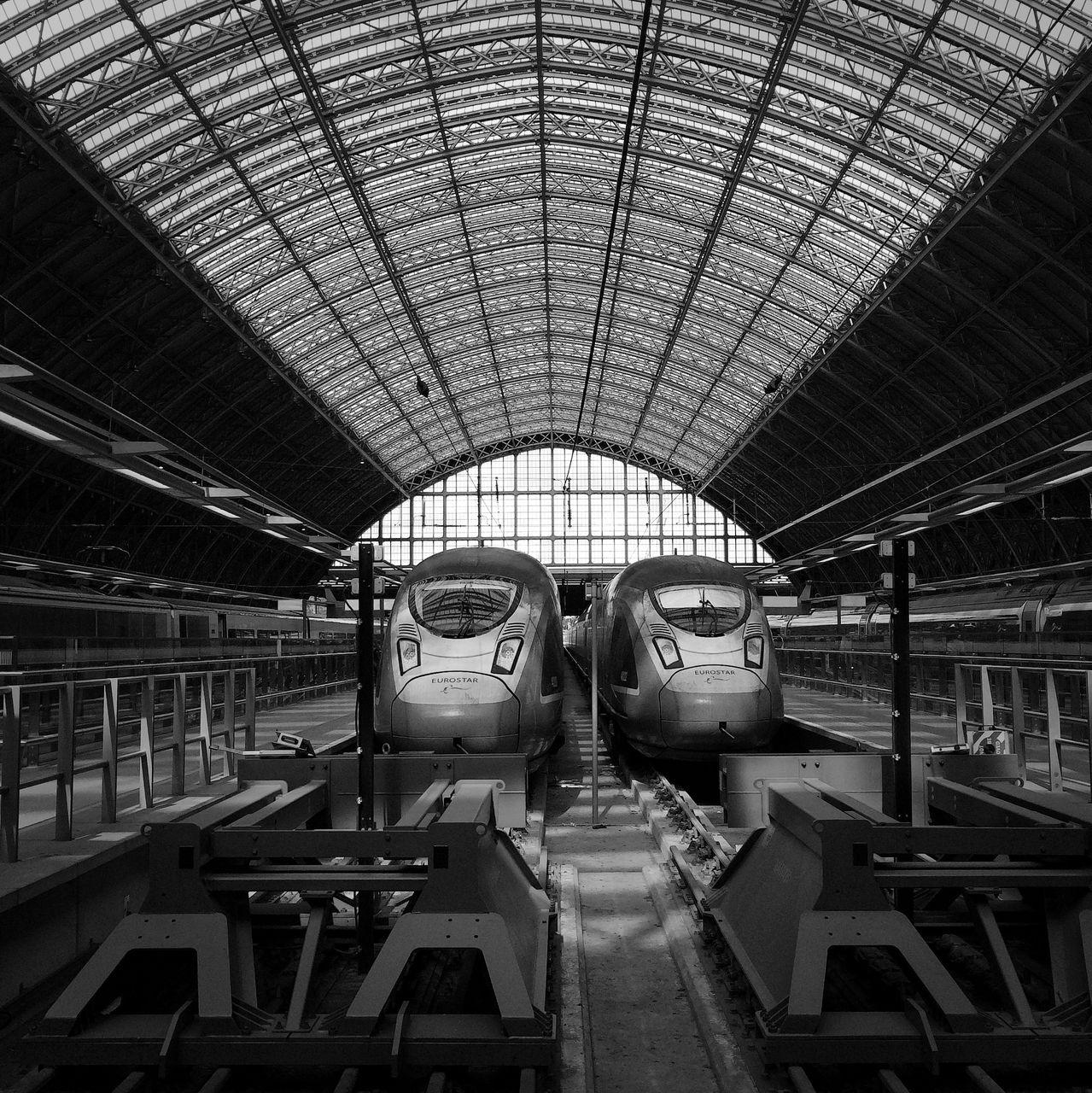 rail transportation, indoors, transportation, train - vehicle, day, no people