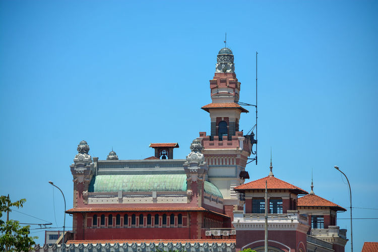Traditional building against blue sky
