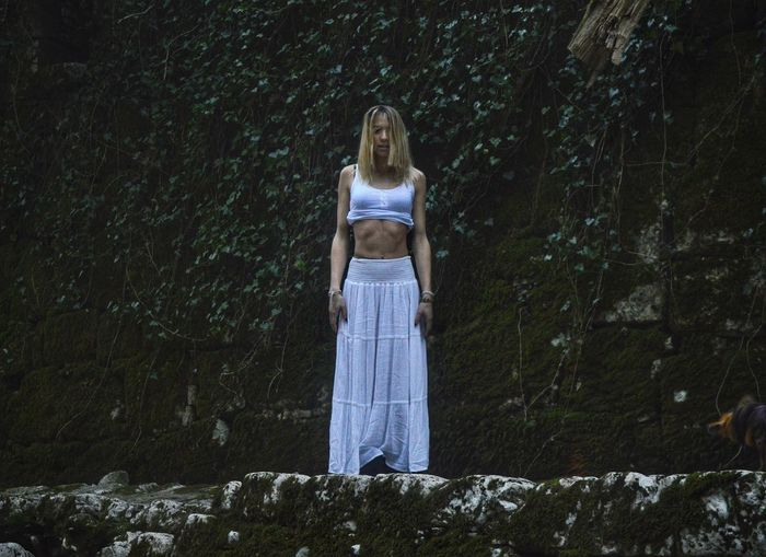 In The Wood Green Nature Dark Blond Hair White Clothes Belly White Skirt Rijeka City Fashion Photography Photography The Portraitist - 2017 EyeEm Awards
