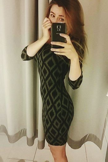 Dress Dressroom Green Fit Girl Fit Selfportrait New Yorker First Eyeem Photo