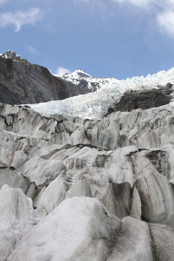 Breathtaking Franz Josef Glacier Ice Travel Winter Wintertime Working Holiday  Beauty In Nature Blue Sky Cold Extreme Sports Extreme Terrain Extreme Weather Glacial Ice Climbing Landscape Mountain Mountain Climbing Nature New Zealand No People Outdoors Scenery Wilderness Winter Wonderland Been There.