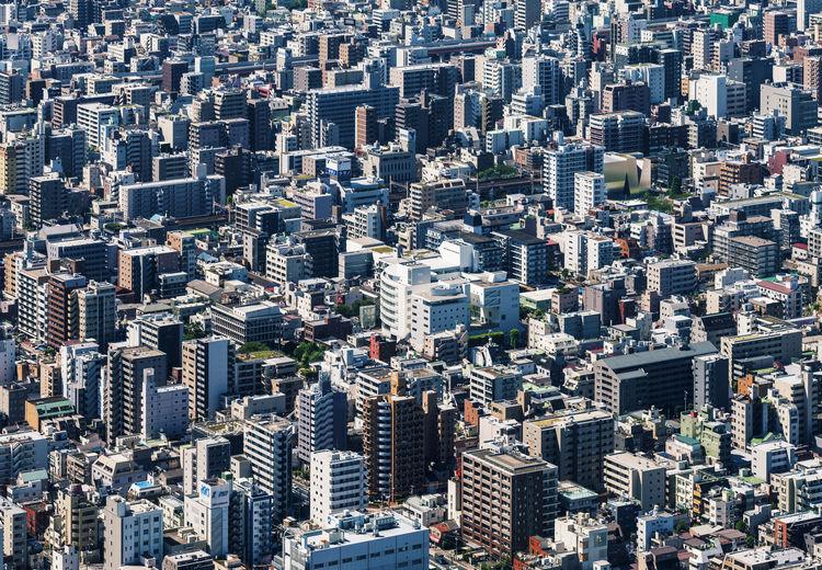 Overcrowded urban designs.