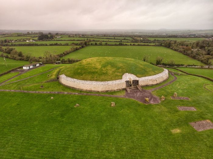 Brú na Bóinne ar Newgrange Newgrange Bru Na Boinne DJI Mavic Air DJI X Eyeem Drone Photograph Environment Landscape Green Color Land Plant Nature Scenics - Nature No People Field Architecture Building Tranquil Scene Built Structure Beauty In Nature Tranquility Growth History Sky Rural Scene Grass